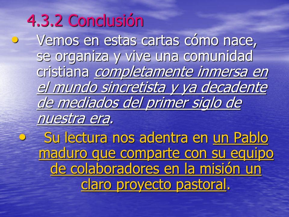 4.3.2 Conclusión