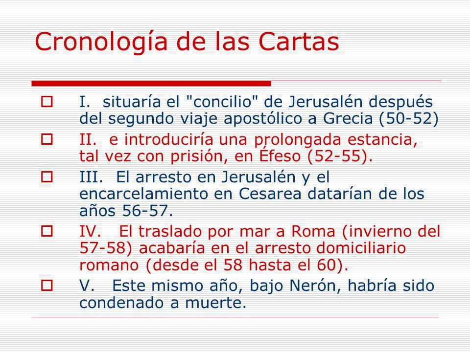 Cronología de las Cartas