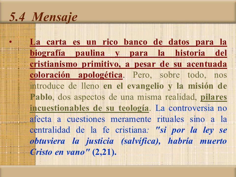 5.4 Mensaje