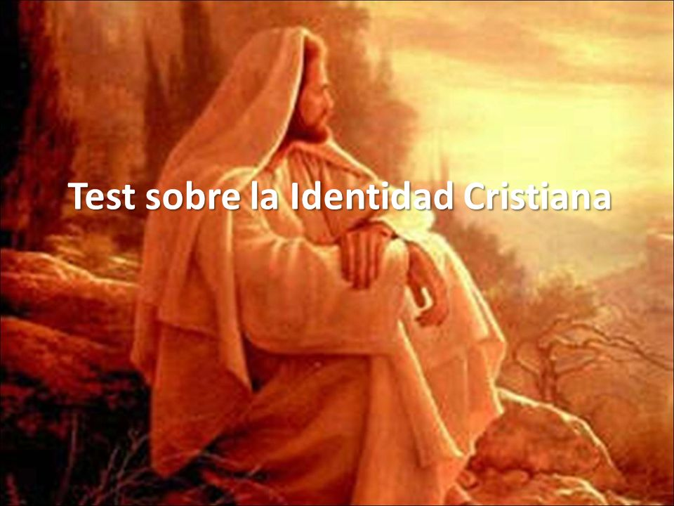 Test sobre la Identidad Cristiana