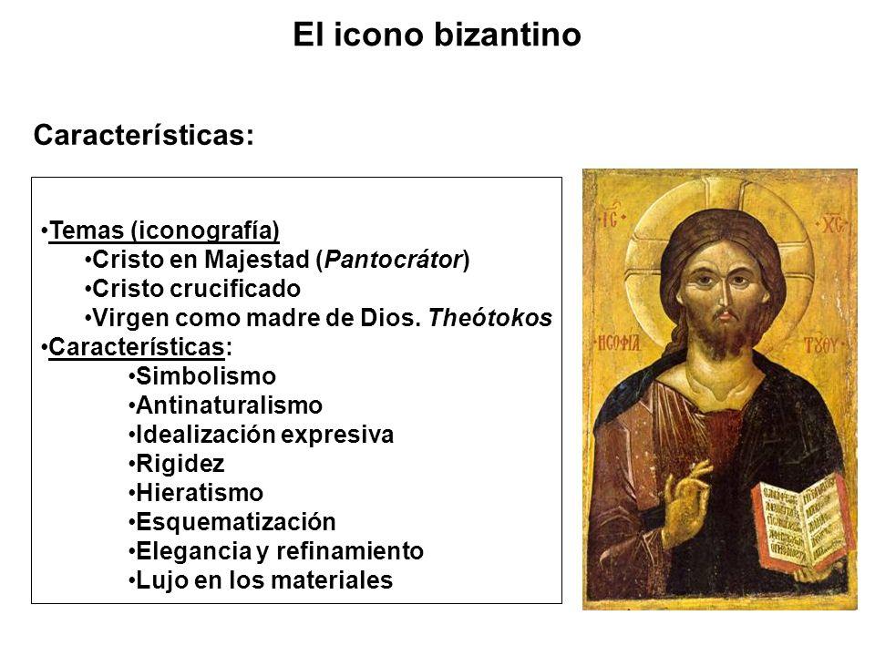 El icono bizantino Características: Temas (iconografía)