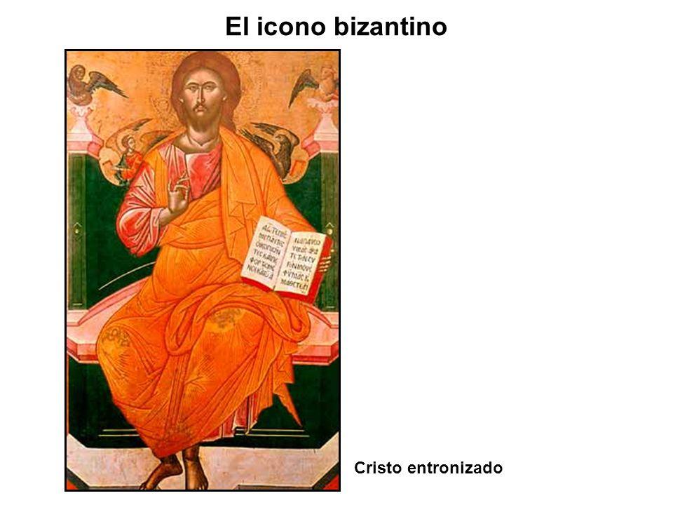 El icono bizantino Cristo entronizado