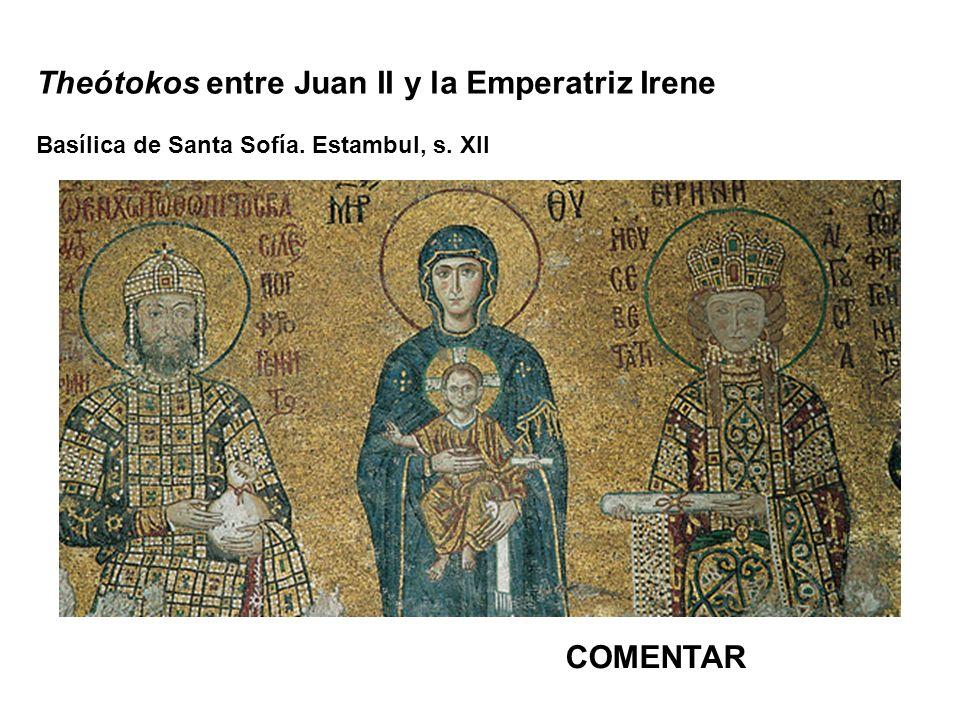 Theótokos entre Juan II y la Emperatriz Irene