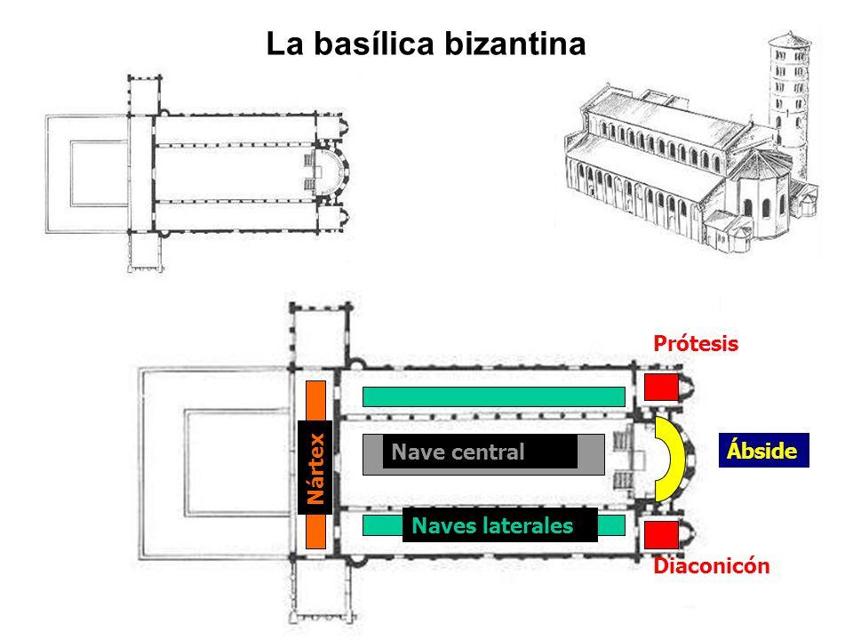 La basílica bizantina Prótesis Nave central Ábside Nártex