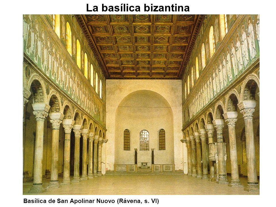 La basílica bizantina Basílica de San Apolinar Nuovo (Rávena, s. VI)