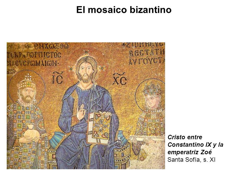 El mosaico bizantino Cristo entre Constantino IX y la emperatriz Zoé