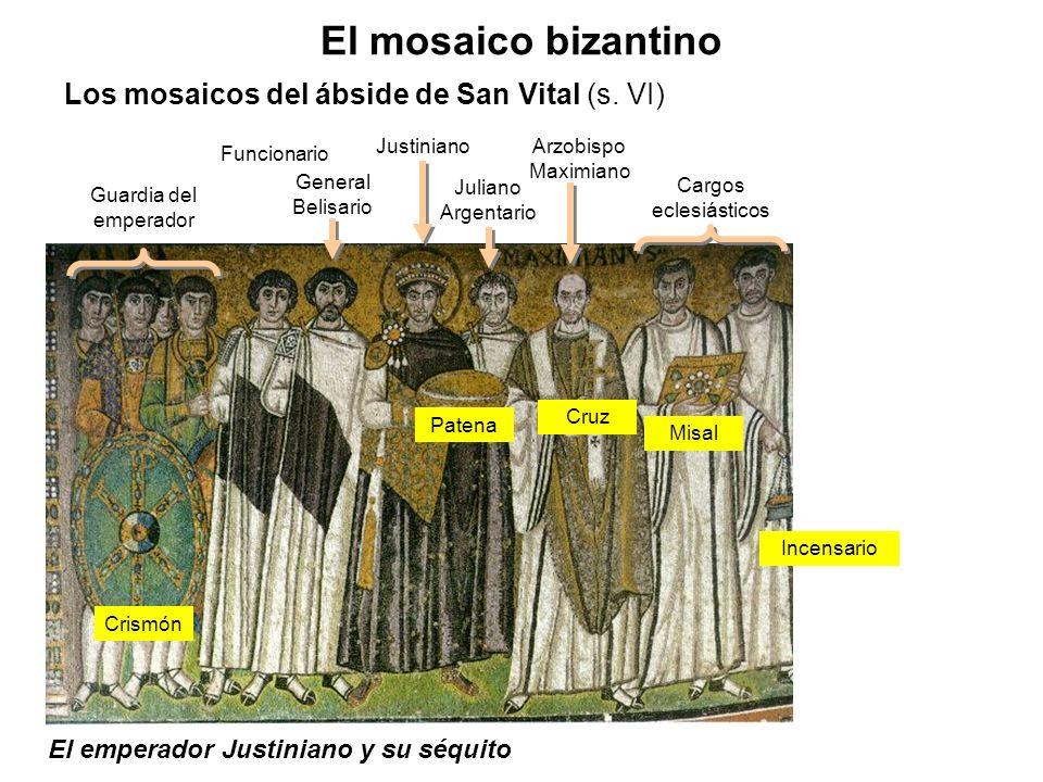 El emperador Justiniano y su séquito