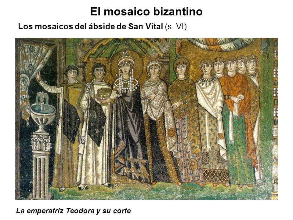 El mosaico bizantino Los mosaicos del ábside de San Vital (s. VI)
