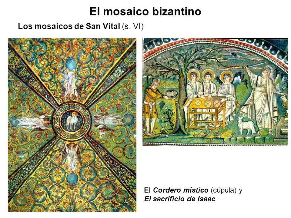 El mosaico bizantino Los mosaicos de San Vital (s. VI)