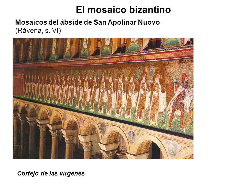 El mosaico bizantinoMosaicos del ábside de San Apolinar Nuovo (Rávena, s.