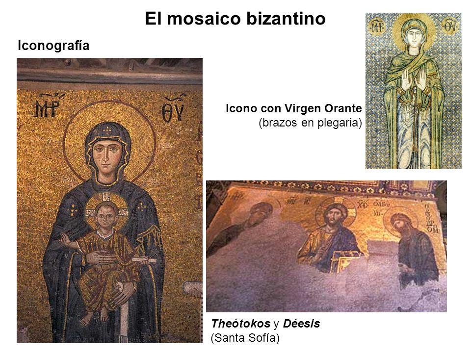 El mosaico bizantino Iconografía Icono con Virgen Orante