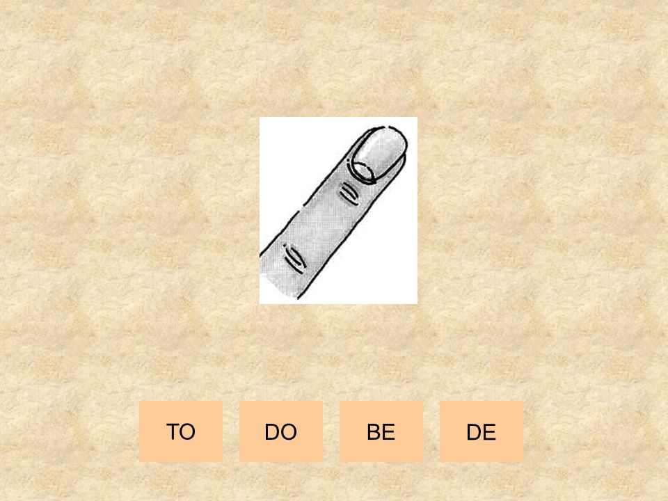 TO DO BE DE