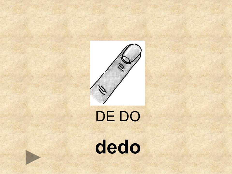 DE DO dedo