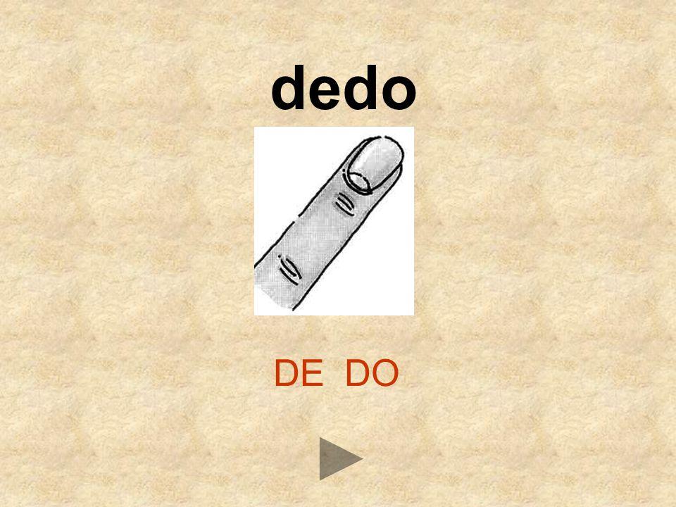 dedo DE DO