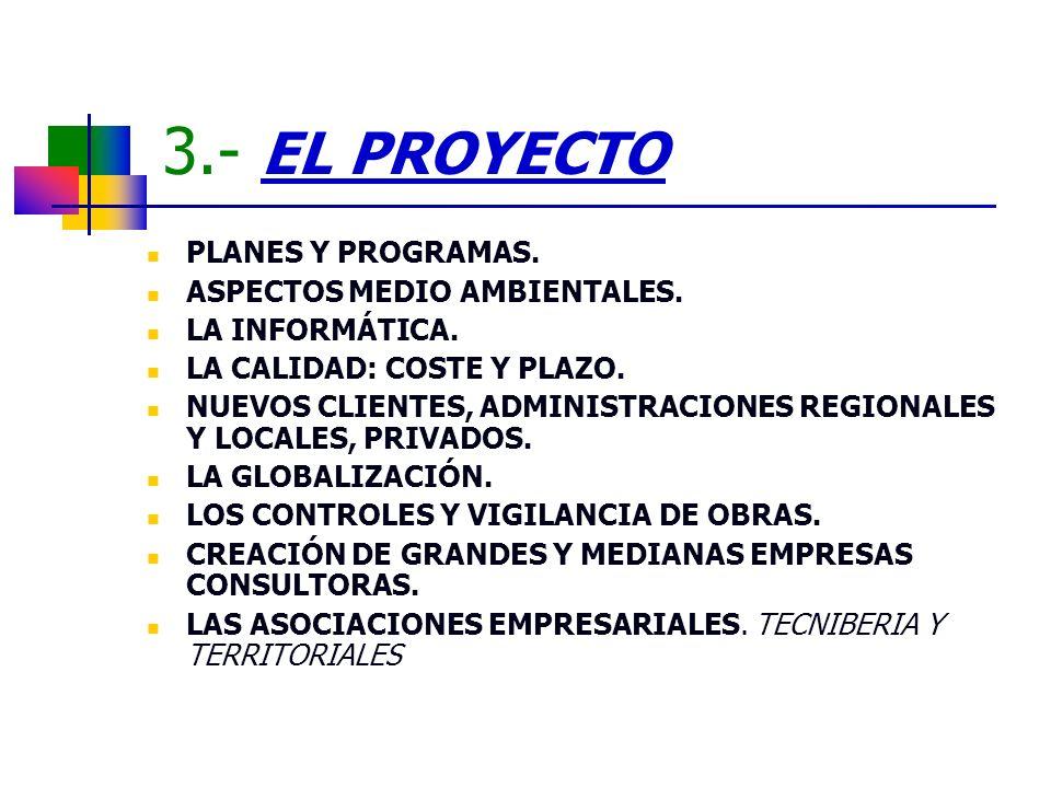 3.- EL PROYECTO PLANES Y PROGRAMAS. ASPECTOS MEDIO AMBIENTALES.