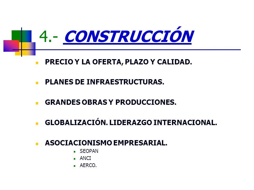 4.- CONSTRUCCIÓN PRECIO Y LA OFERTA, PLAZO Y CALIDAD.