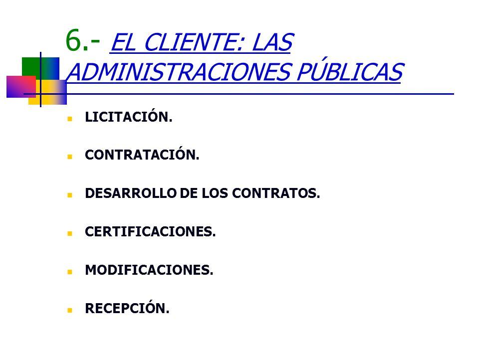 6.- EL CLIENTE: LAS ADMINISTRACIONES PÚBLICAS