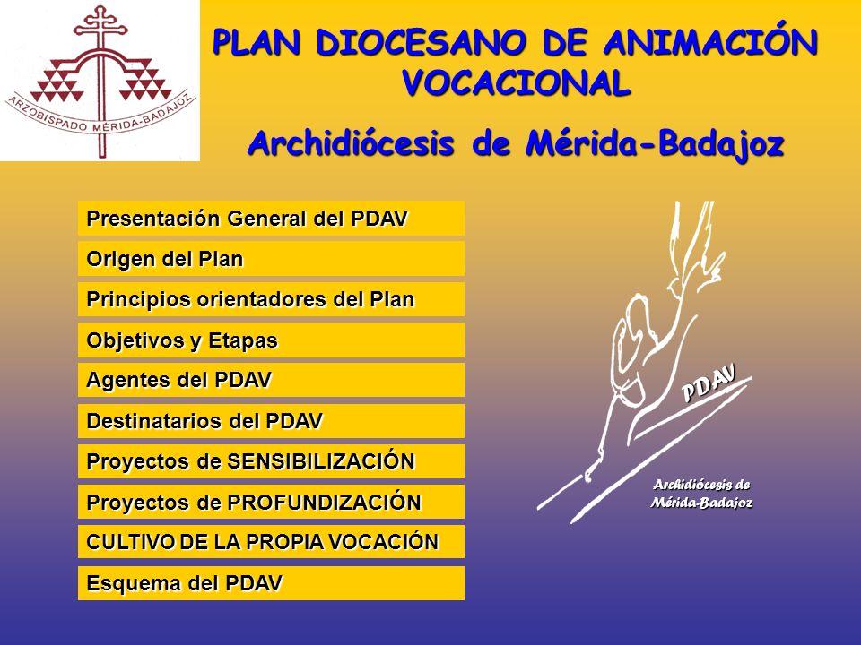 PLAN DIOCESANO DE ANIMACIÓN VOCACIONAL Archidiócesis de Mérida-Badajoz