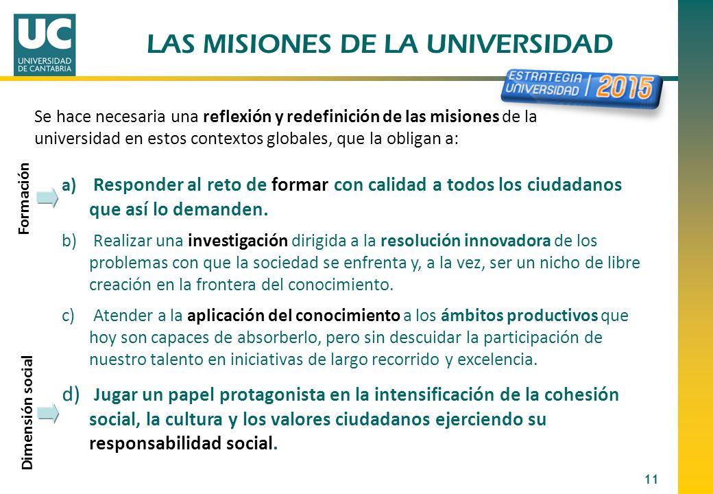 LAS MISIONES DE LA UNIVERSIDAD
