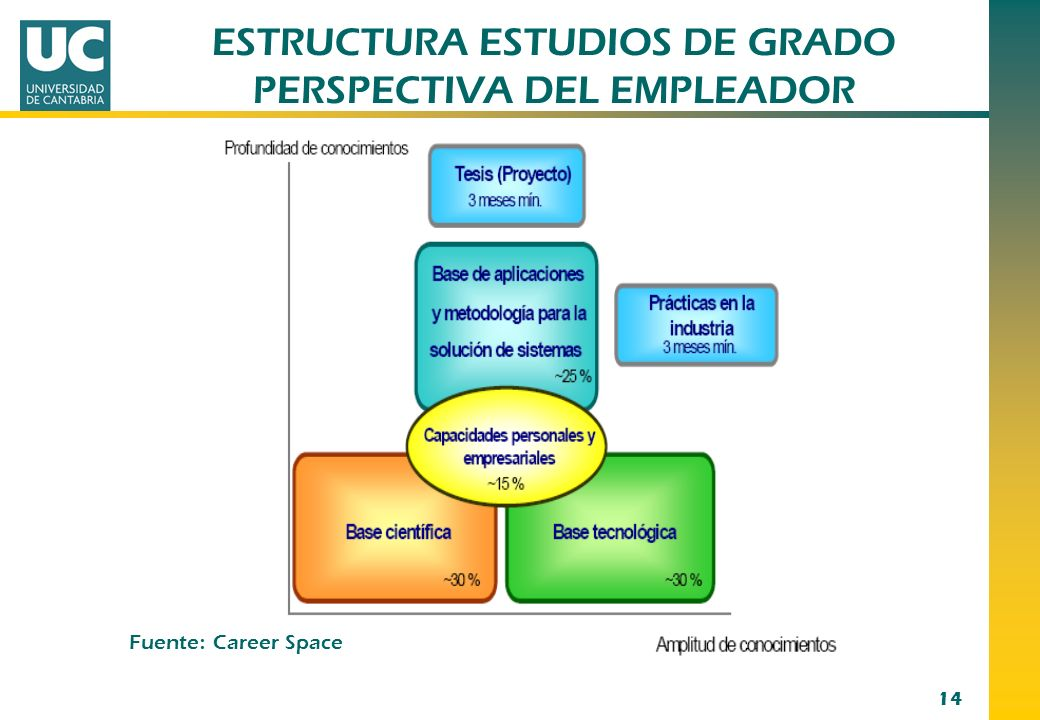 ESTRUCTURA ESTUDIOS DE GRADO PERSPECTIVA DEL EMPLEADOR