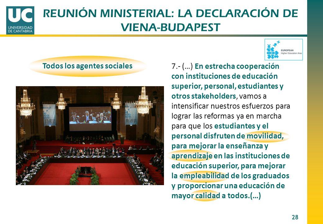 REUNIÓN MINISTERIAL: LA DECLARACIÓN DE VIENA-BUDAPEST
