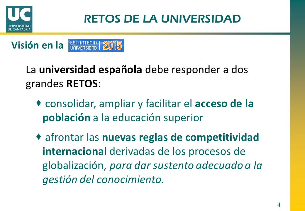 RETOS DE LA UNIVERSIDAD