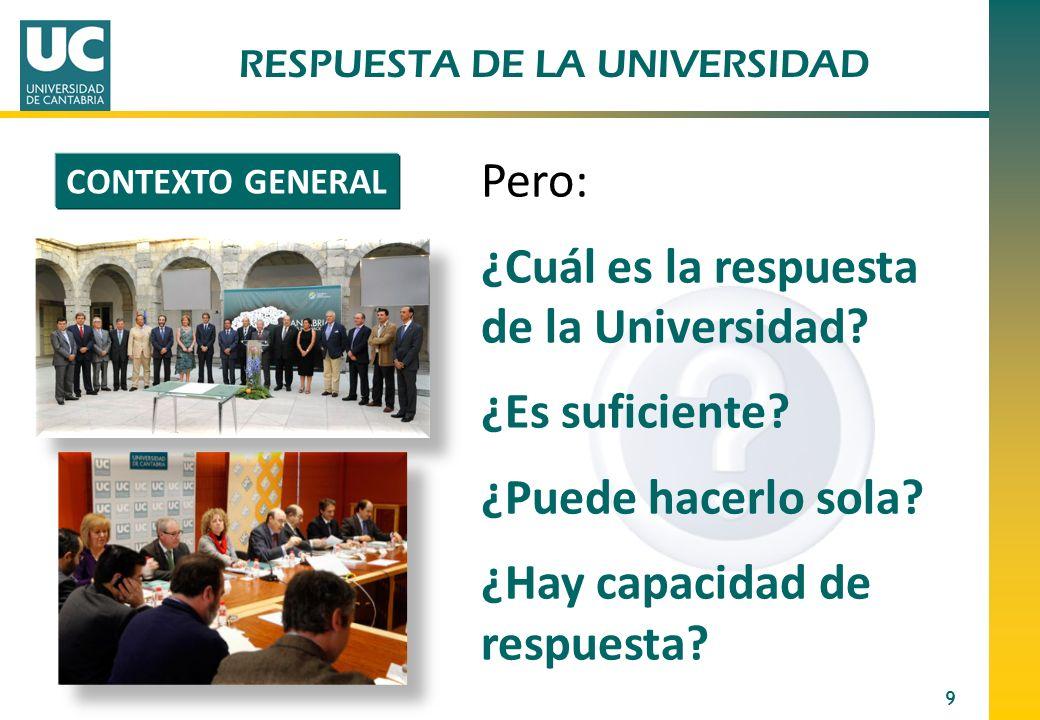 RESPUESTA DE LA UNIVERSIDAD