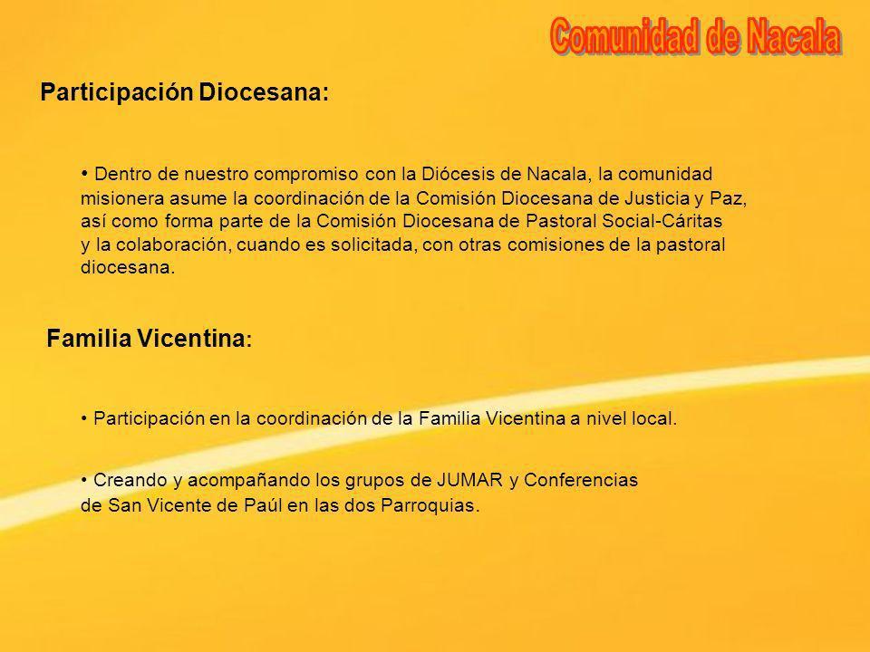 Comunidad de Nacala Participación Diocesana: Familia Vicentina: