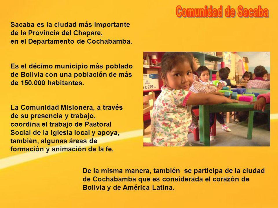 Comunidad de SacabaSacaba es la ciudad más importante de la Provincia del Chapare, en el Departamento de Cochabamba.