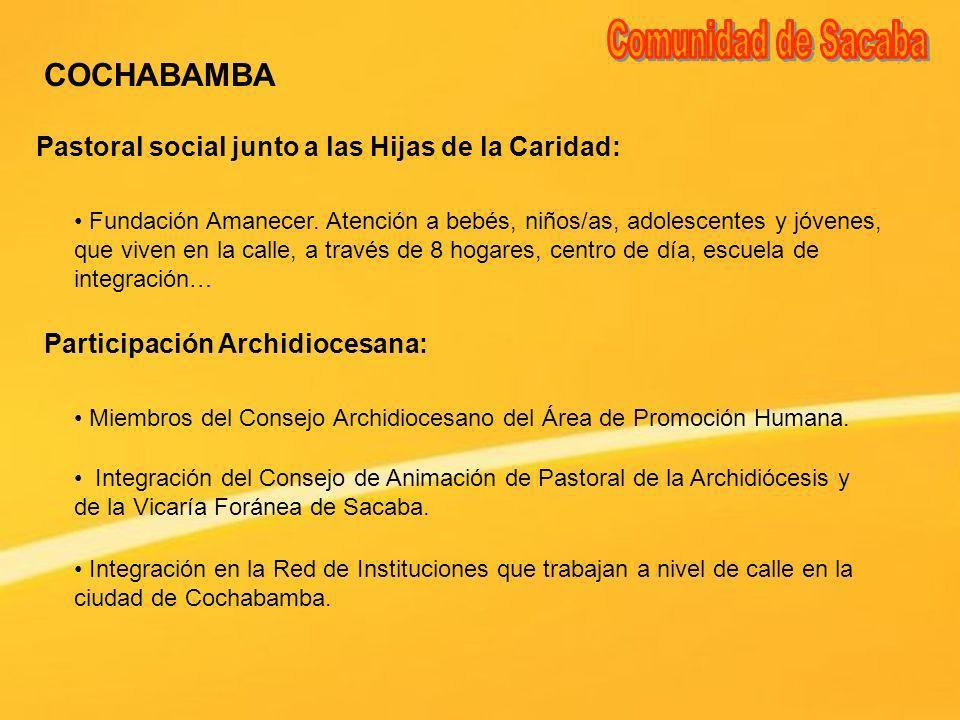 Comunidad de Sacaba COCHABAMBA