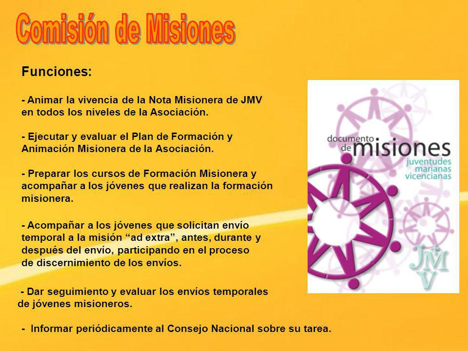 Comisión de Misiones Funciones:
