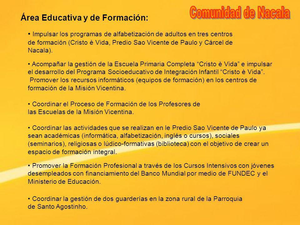 Comunidad de Nacala Área Educativa y de Formación: