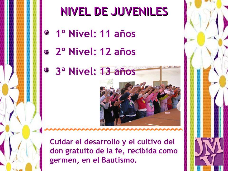 NIVEL DE JUVENILES 1º Nivel: 11 años 2º Nivel: 12 años
