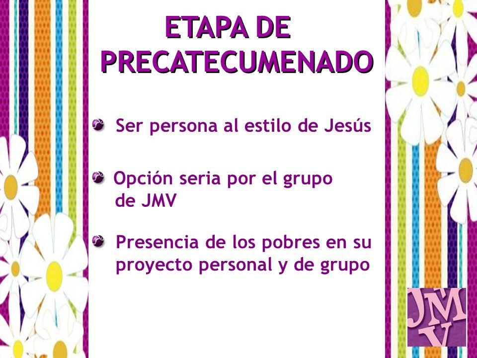 ETAPA DE PRECATECUMENADO