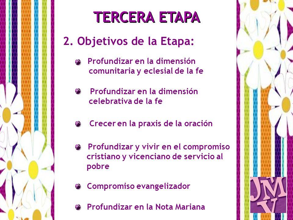TERCERA ETAPA 2. Objetivos de la Etapa: