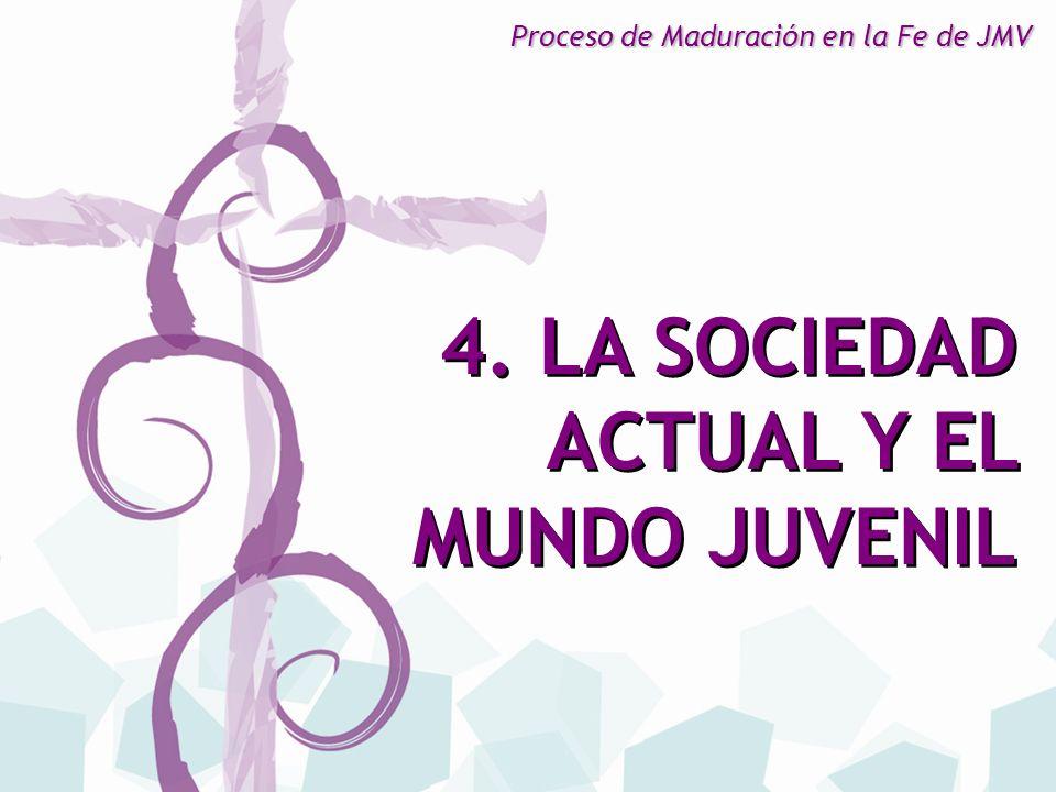 4. LA SOCIEDAD ACTUAL Y EL MUNDO JUVENIL
