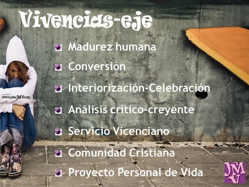 Vivencias-eje JMV Madurez humana Conversión