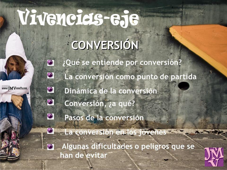 Vivencias-eje CONVERSIÓN JMV ¿Qué se entiende por conversión