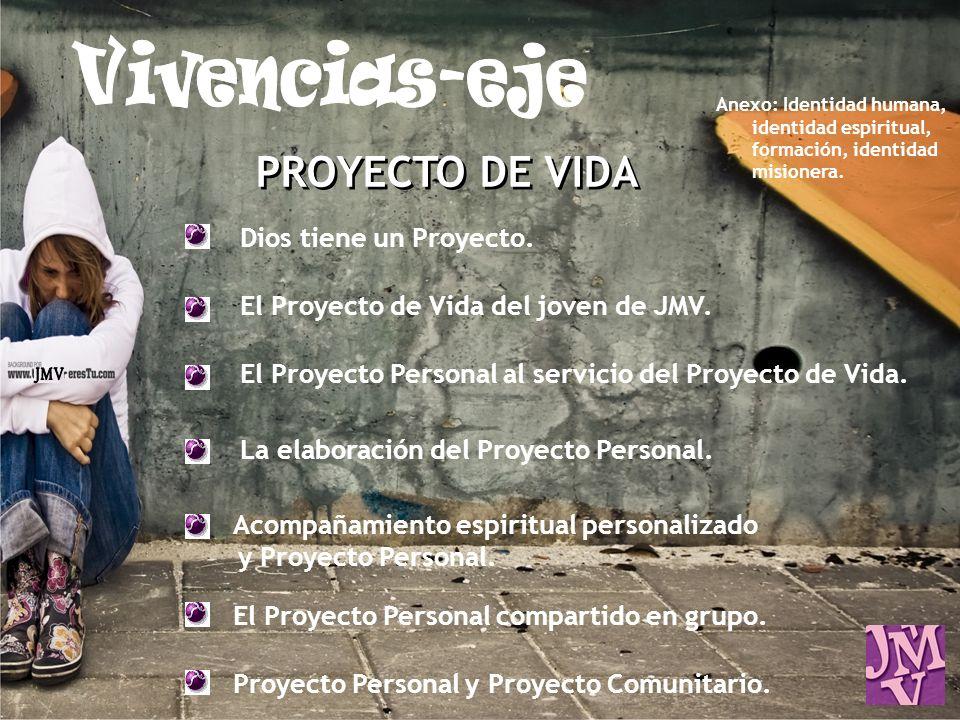 Vivencias-eje JMV PROYECTO DE VIDA Dios tiene un Proyecto.