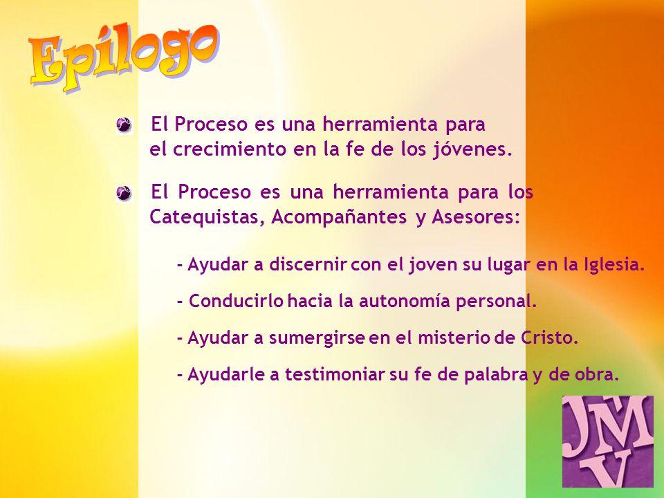 Epílogo El Proceso es una herramienta para el crecimiento en la fe de los jóvenes.