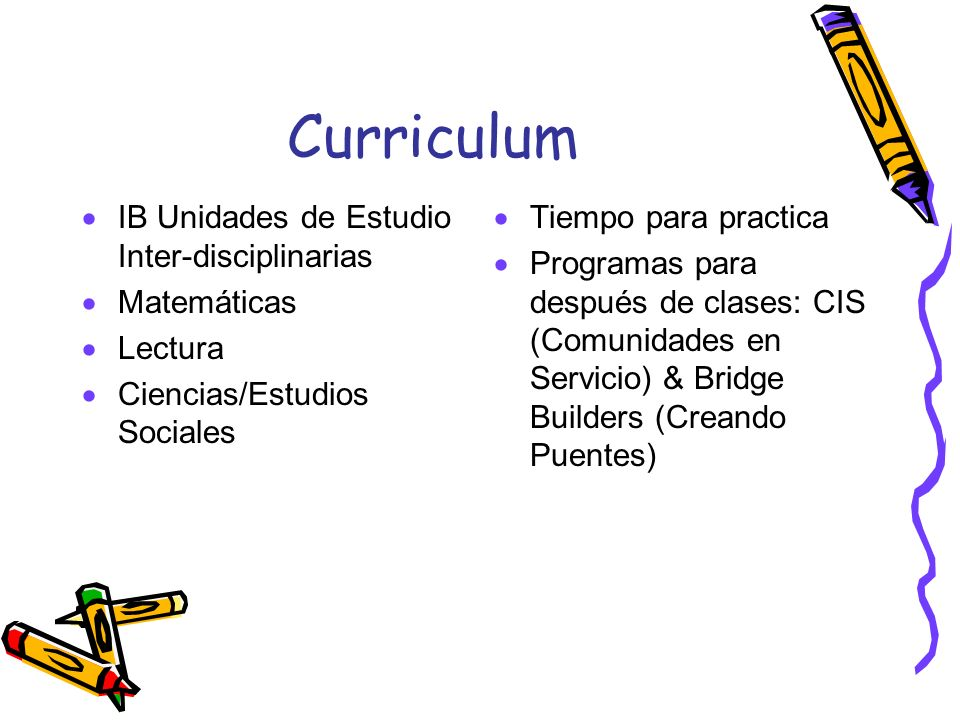 Curriculum IB Unidades de Estudio Inter-disciplinarias Matemáticas