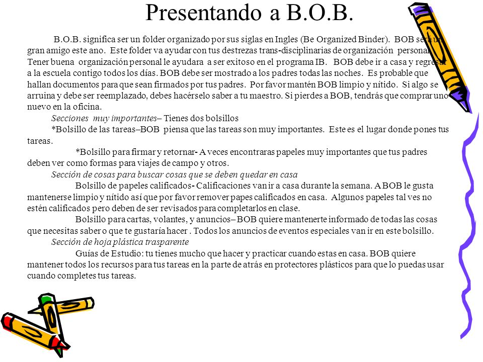 Presentando a B.O.B.