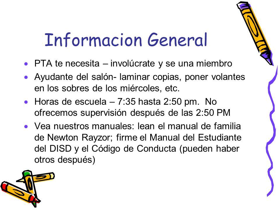 Informacion General PTA te necesita – involúcrate y se una miembro