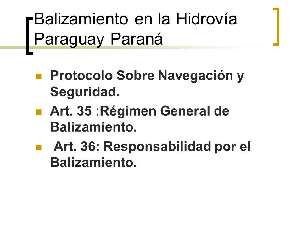 Balizamiento en la Hidrovía Paraguay Paraná