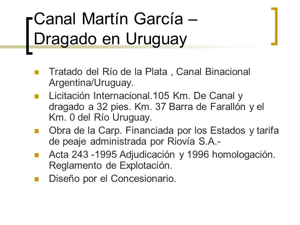 Canal Martín García – Dragado en Uruguay