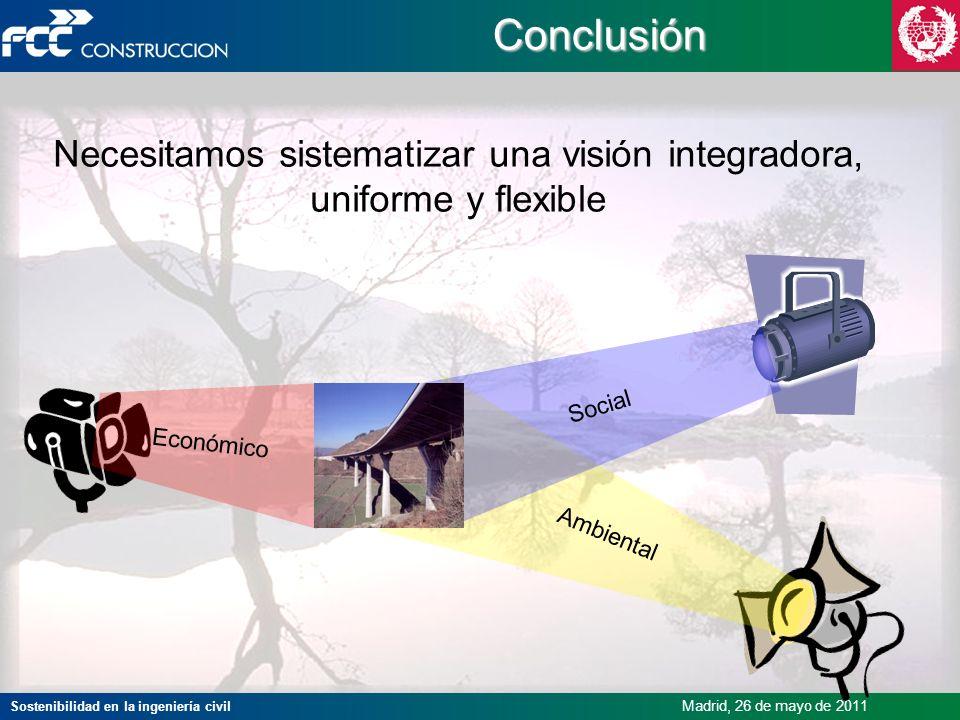 Necesitamos sistematizar una visión integradora, uniforme y flexible