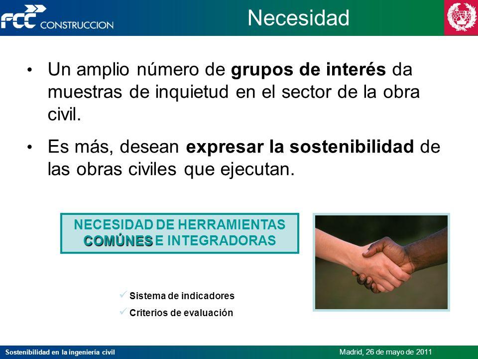 NECESIDAD DE HERRAMIENTAS COMÚNES E INTEGRADORAS
