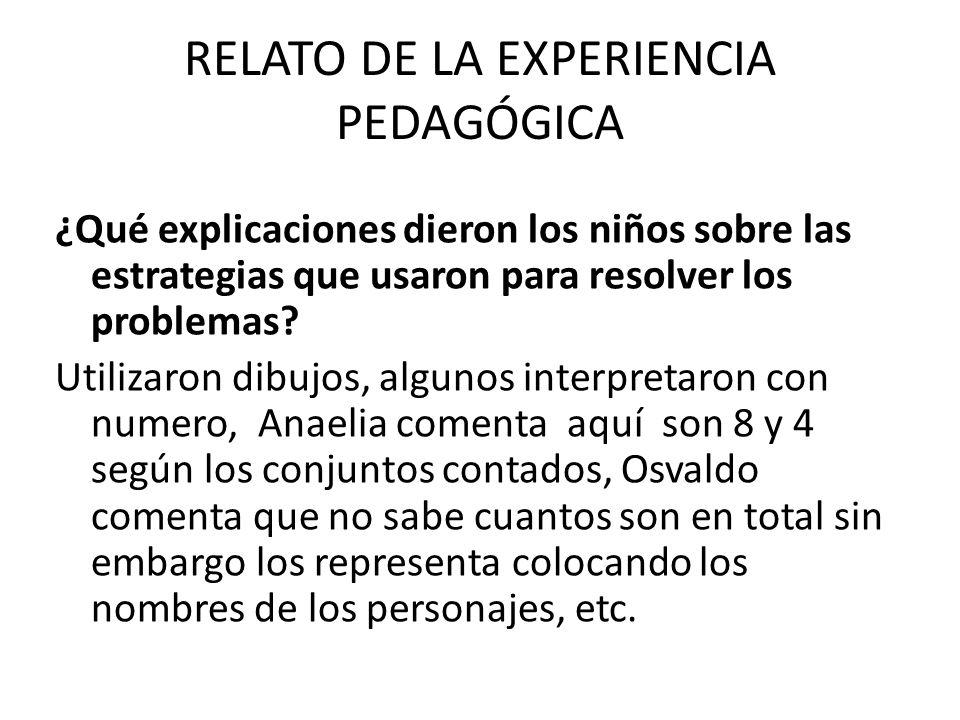 RELATO DE LA EXPERIENCIA PEDAGÓGICA