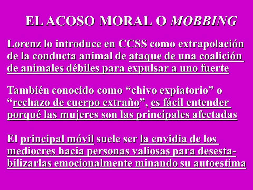 EL ACOSO MORAL O MOBBING