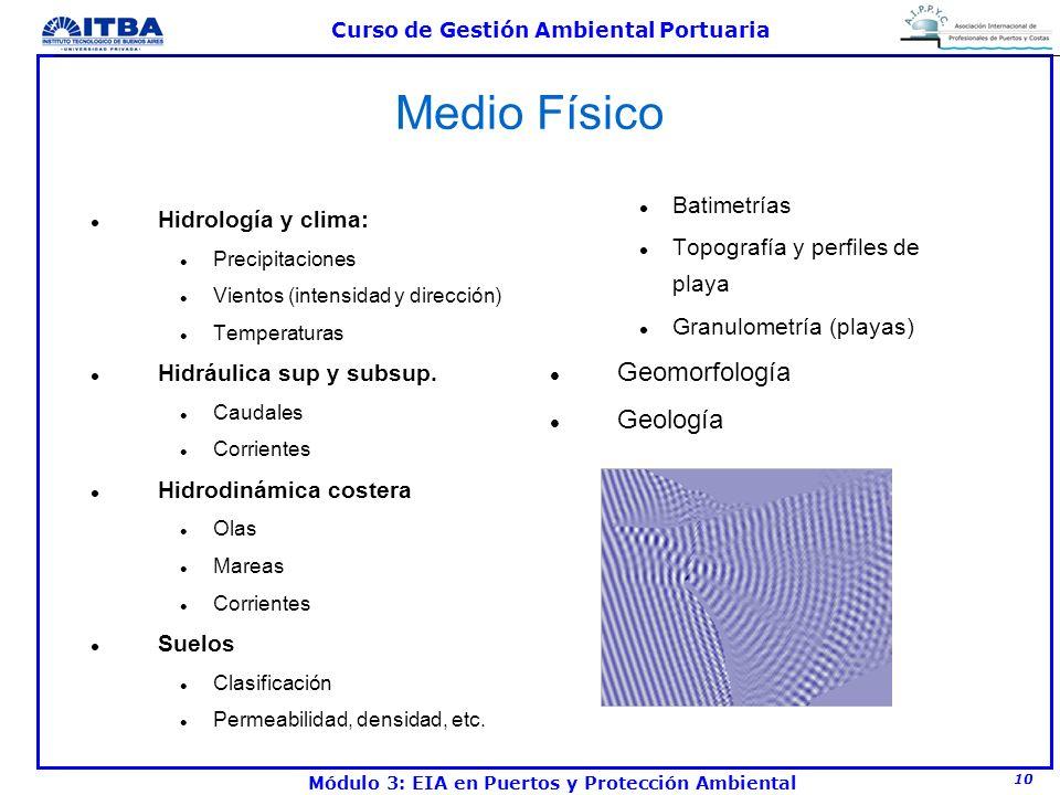 Medio Físico Geomorfología Geología Batimetrías